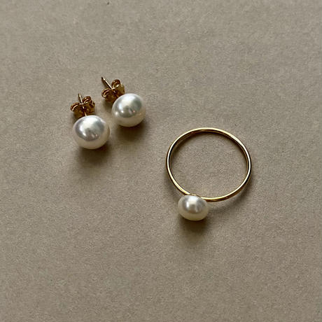 14k gold filled pearl ring