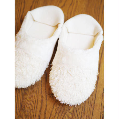 ORGANIC COTTON FUR MIX ROOM SHOES-B