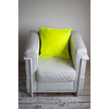 NEON VELVET WITH COLOR FEATHER CUSHION COVER (SQUARE)
