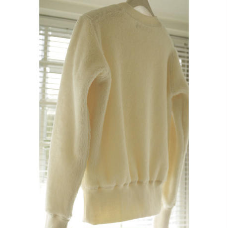 ORGANIC COTTON FUR LONG SLEEVE SWEATSHIRT
