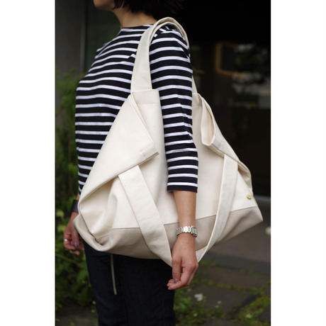 LAUNDRY TOTE BAG-ORGANIC COTTON CANVAS+ULTRA SUEDE (GREY)