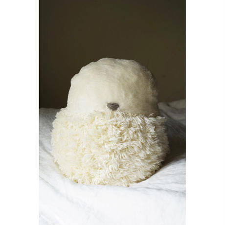 SOFT SCULPTURE-ORGANIC COTTON FUR MIX