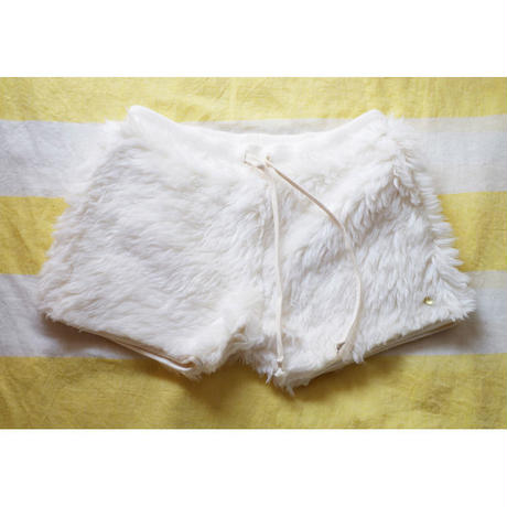 ORGANIC COTTON LONG FUR SHORT PANTS