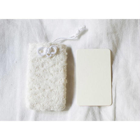 MESSAGE CARD+CASE (ORGANIC COTTON BRUSHED PILE)