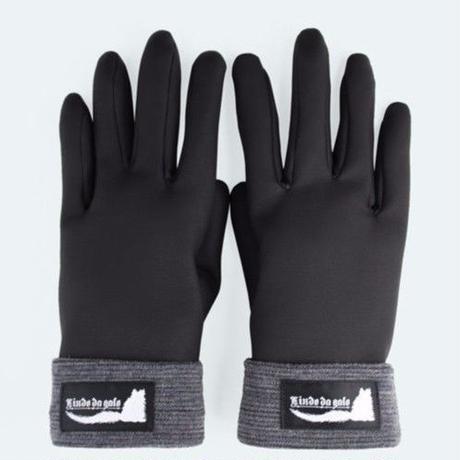 フェイクレザーコンビ手袋