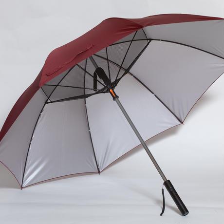 扇風機ファン付き日傘(ワインレッド)