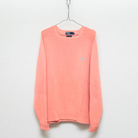 Ralph Lauren salmon pink cotton knit
