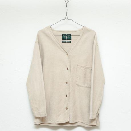 Linen nocollar  shirt