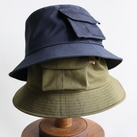 cableami / VENTILE BUCKET HAT with Pocket