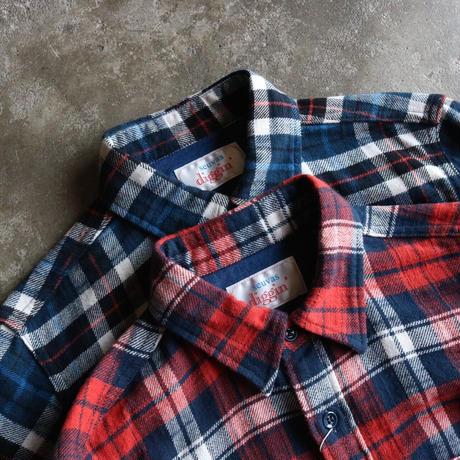 seuvas diggin' / ミドルウェイトネルチェックワークシャツ