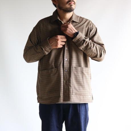 amne / CHECK covered shirts