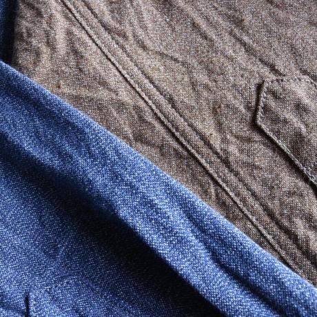 seuvas diggin' / セルヴィッジ撚り杢シャンブレーワークシャツ