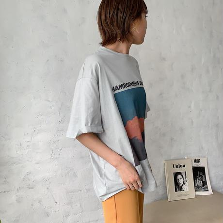 ♢予約販売♢cloudmoonカラーTシャツ/2color_lt0421