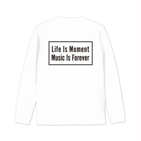 Box logo long sleeveT-shirt -white
