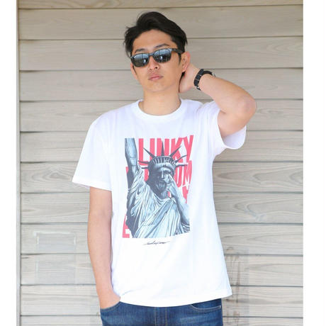 Freedom T-shirt (White×Red)*A36