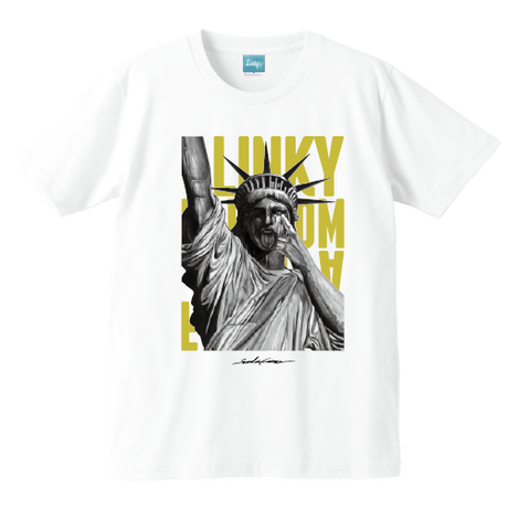 Freedom T-shirt (White×Gold)*A37