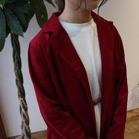 さらっと羽織れる薄手コーデュロイで魅せる、オータムシャツコート(プラム)
