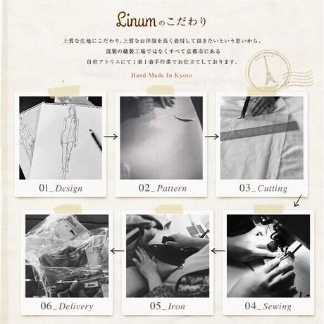 【ベルギーリネンブラウス】シャーリング袖のシンプルなプルオーバーシャツ スモーキーピンク くすみ系 リネンシャツ