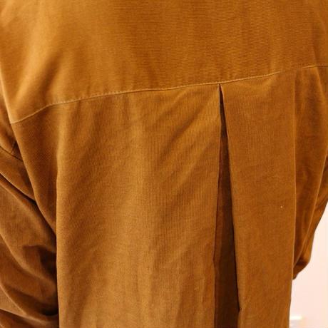 【秋冬春コーデュロイシャツワンピース】シャツコールコーデュロイで魅せる、こだわり抜いた大人のシャツワンピース(キャメル)