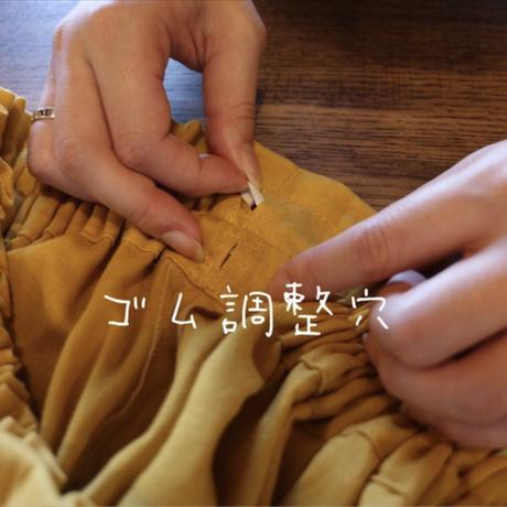 【丈85センチ・変更可 】しっかりコットンリネンで魅せる、ウエストゴムのロングギャザースカート(ボルドー)