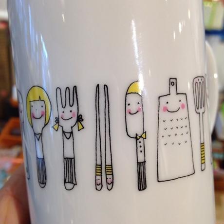 【tomopecco】マグカップ 《カトラリー》
