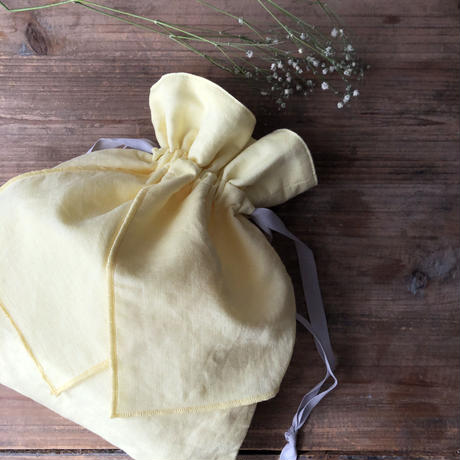【Gardener】コットンリネンリボン巾着