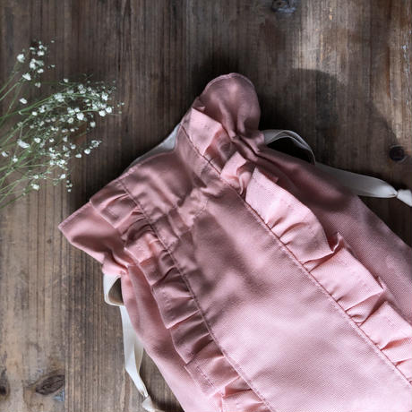 【Gardener】ストレートダブルフリル巾着
