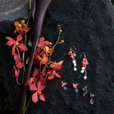 Botanical chandelier.  earrings pair