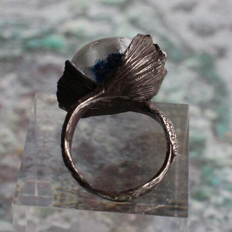 クラゲと人魚のRing oxidized silver