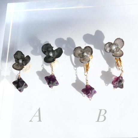 Botanical Black  Earings/ Studs earrings  Pair