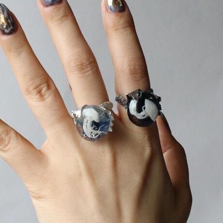 クラゲと人魚のRing Silver