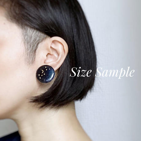 Indigo Studs Earrings 【Large】ピアス