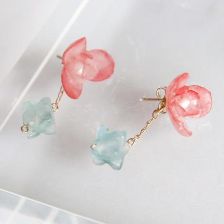 Botanical Red Earings/ Studs earrings  Pair