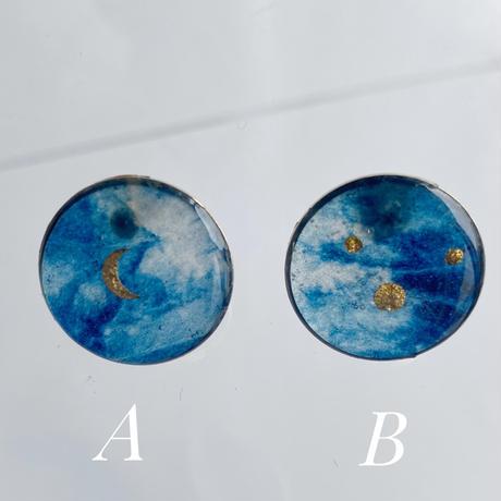 Indigo Studs Earrings【small】ピアス