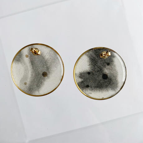 Sumi studs earrgngs 【Large】ピアス