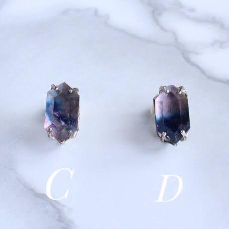 Crystal/Amethyst Indigo イヤリングearrings  Single