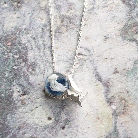 クラゲと人魚 Necklace short