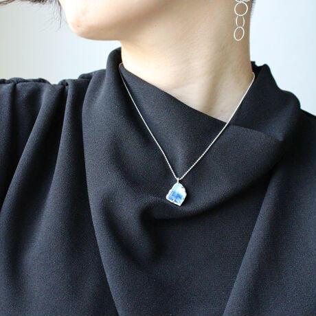 藍染和紙ショートネックレス