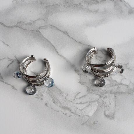 Silver Saturn tuyu Earcuff  Single