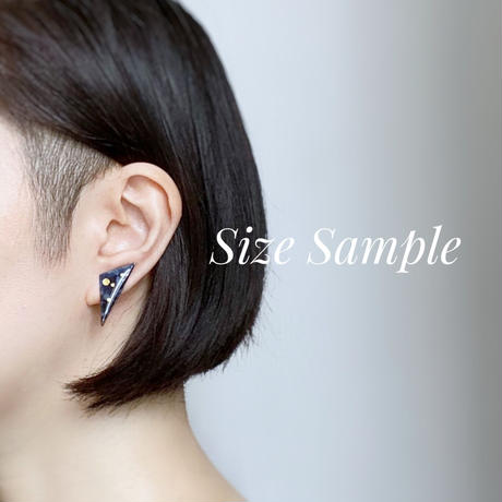 Sumi Studs earrings 【small】 ピアス