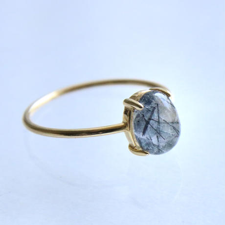 Tormalinated Quartz Ring