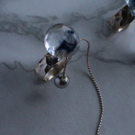 Chain Earcuff Single Indigo