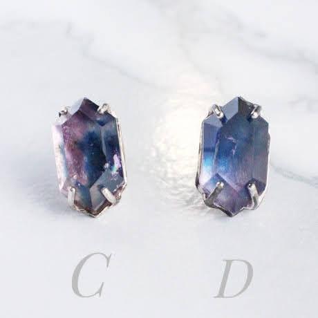 Amethyst Indigo ピアスStuds earrings  Single