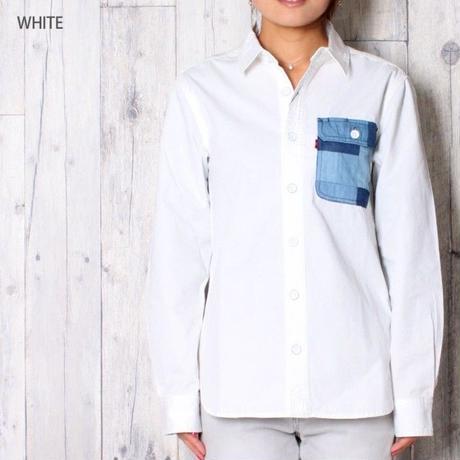 デニムワークシャツ WHITE