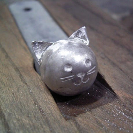 猫の鈴 シルバーペンダントトップ no1