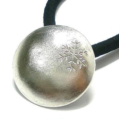 雪の結晶模様のヘアゴム yu-07