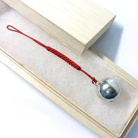 銀の鈴 守り鈴の根付 直径20mm