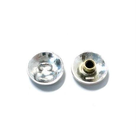 コンチョ レザークラフト金具 silver925 槌目模様 20mm