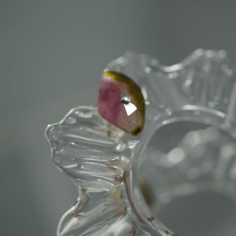 Water Frill  Stone ピアス小(セット)ーピンクトルマリン