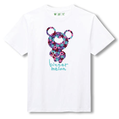 t-shirts(leaf purple×white)